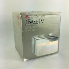 Ashton Tate dBase IV Installing Setting the New Data Management Standard