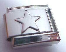 STAR Italian Charm - fits 9mm Classic Starter Bracelets Stars Space N211 Silver