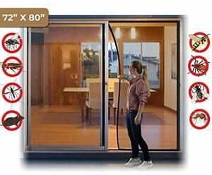 Hands Free Magic Mesh Screen Net Door 26 Magnet Large 72x80 Full Frame HOOk&LOOP