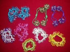 Girls,BEAUTIFUL  Lot of 11, Jewel encrusted, HAIRTIES, VARIETY OF COLORS