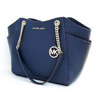 Michael Kors tasche handtasche jet set travel chain tote blau neu