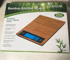 Taylor Electronic Kitchen Scale Bamboo Digital Scale Eco Friendly