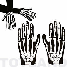 SKELETON GLOVES FANCY DRESS ACCESSORY CHILDREN & ADULT BOOK DAY COSTUME PROP