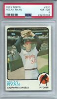 1973 TOPPS #220 NOLAN RYAN, HOF, PSA 8 NM-MT, CALIFORNIA ANGELS, L@@K !