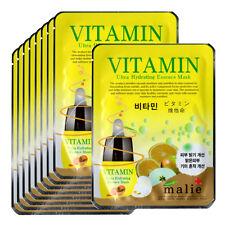 Vitamin Face Mask Pack Sheet Moisture Essence Facial Skin Care 9pcs Unisex