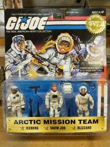 1997 Arctic mission team iceberg snow job blizzard GI Joe action figure NIP