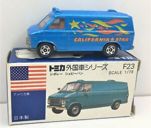 Tomica *California Star Chevy Van * WOW** Rare & Boxed * 1:78