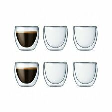 Bodum Pavina Double Wall Hot & Cold Set of 6 Glass, 73ml, Transparent