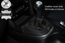 YELLOW STITCHING MANUAL LEATHER GEAR GAITER FITS PORSCHE CARRERA 997 BOXSTER 987
