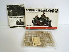 BANDAI GERMAN MOTORCYCLE SIDECAR B.M.W.R/75 KIT 1:48 SCALE COMPLETE BOXED (K453)
