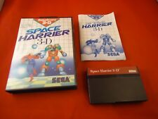 Space Harrier 3-D (Sega Master System 1988) COMPLETE w Box manual game WORKS! 3D