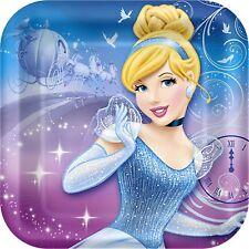 Disney Princess Cinderella Square Snack/Dessert Plate 8pk 18cm