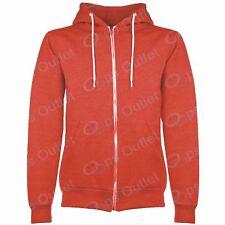 Mens Hoodies Plain American Fleece Zip Hoody Jacket Hooded Top Sweat Shirt S-XL