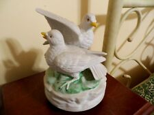 "Two Doves Porcelain Music Box with theme From ""Love Story"""