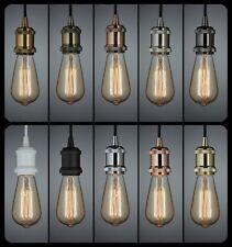 Retro Vintage Ceiling Light Bulb Holder Pendant Kitchen Island Bar Cafe Dining