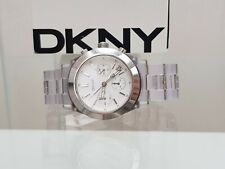 ** DKNY Ladies Chamber White Watch Lightweight Chronograph RRP £179 (513)