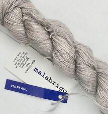 Malabrigo Baby Silkpaca Lace yarn alpaca/silk blend 420 yards 036 Pearl