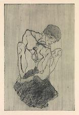 Egon Schiele Print Reproduction: Sorrow - Fine Art Print