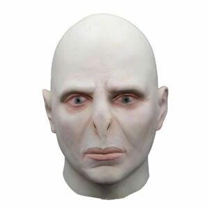 Adults Dark Lord Voldemort You-Know-Who Halloween Cosplay Costume Full Face Mask
