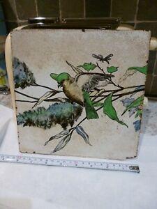 RARE ANTIQUE EARLY BROWN WESTHEAD MOORE & Co BIRD TILE