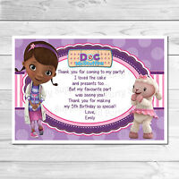 Personalised Doc Mcstuffins Kids Thank You Cards Includes Envelopes