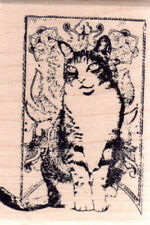 New February 2010 MAGENTA RUBBER STAMP Cat of Month FEB 2010 Neko sm