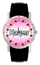 Name - Harper Mens Ladies Genuine Leather Water Resistant Wrist Watch SA1624