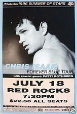"Chris Isaak 1996 ""Forever Blue Tour"" Denver Concert Poster - Guitar Rock Music"