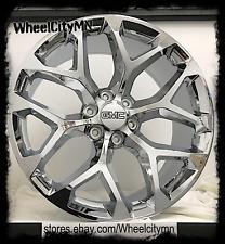 20 inch chrome Snowflake 2018 GMC Sierra 1500 Denali Yukon replica wheels 6x5.5