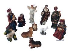"Christmas Nativity Set 3"" Nacimiento De Navidad 11 Pcs 6601-3"