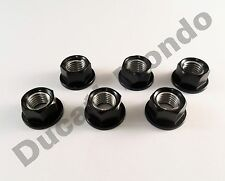 Ducati rear sprocket cush drive nuts alloy billet NEW Black set 6 M10 x 1.25mm