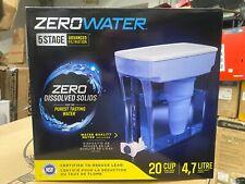 Zero Water Pitcher 5 Stage advanced Filtration 20 Cup Pour Dispenser 4.7 Litre