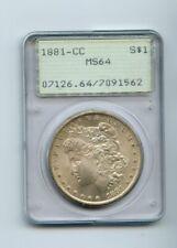 1881-CC morgan silver dollar MS 64