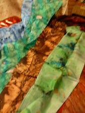 lot SOIE===4 écharpes tour de cou ou bandeau cheveux ===neuves