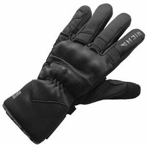 Richa Summit Evo Textile Motorcycle Motorbike Gloves - Black