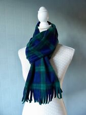Black Watch Tartan shawl blanket scarf fleece blue plaid stole wrap unisex gift