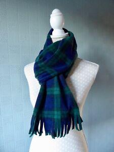 Black Watch Tartan shawl blanket scarf fleece blue plaid stole wrap unisex gift
