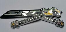 3Pcs SRT Super Bee+Scat Pack Emblems Badge Sticker  Dodge Challenger Ram Charger
