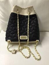 NWT Big Buddha Blk/Cream Gold Tone Chains Ladies Backpack BBO09505