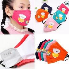 Kids 1pcs Mouth Mask Breathable Cotton Protective