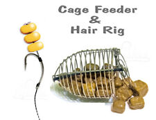 Carp Cage Fishing Feeder Method & Hair Rig Hook #4 - Coarse Bait Fishing Tackle
