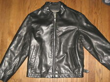 Womens black leather jacket Banana Republic XS Small lined Gorgeous!!outerwear