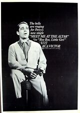 PERRY COMO 1965 Poster Ad MEET ME AT THE ALTAR