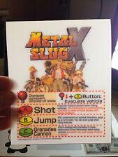 Metal Slug X Mini Neo Geo Arcade Marquee