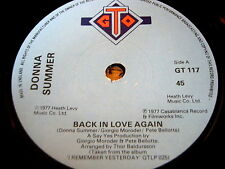 "DONNA SUMMER - BACK IN LOVE AGAIN   7"" VINYL EP"