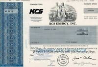 KCS Energy Inc., 1993 (500 Shares)