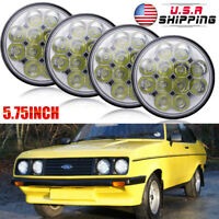 """4pcs 5-3/4"""" 5.75"""" Inch Round LED Headlight  Lamp for Ford Chevy Corvette GMC"""