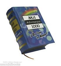 "1000 Adivinanzas  new collectible small 2.65"" tall book easy to read hardcover"