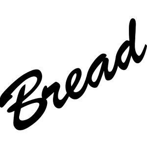 Bread 20cm schwarz Schriftzug Wandtattoo Aufkleber Tattoo Deko Klebe Folie Küche