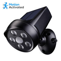 TORCHSTAR Solar Motion Sensor Security Light,Outdoor LED Spot Lighting Kit,Black